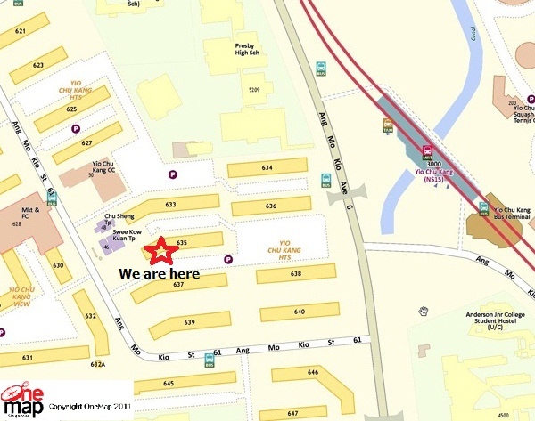 Location Map of Singapore Safety Driving Centre_Ang Mo Kio Branch