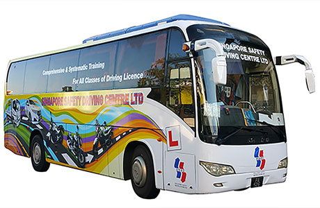 fully air-conditioned bus service